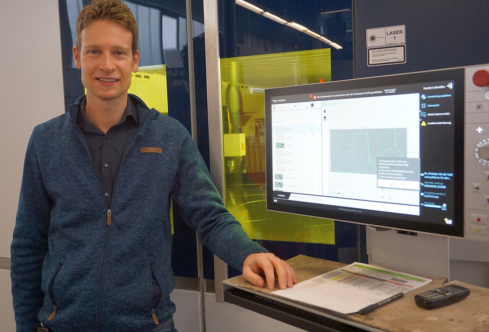 Christoph Stengel, Leiter Konstruktion und Grafik.
