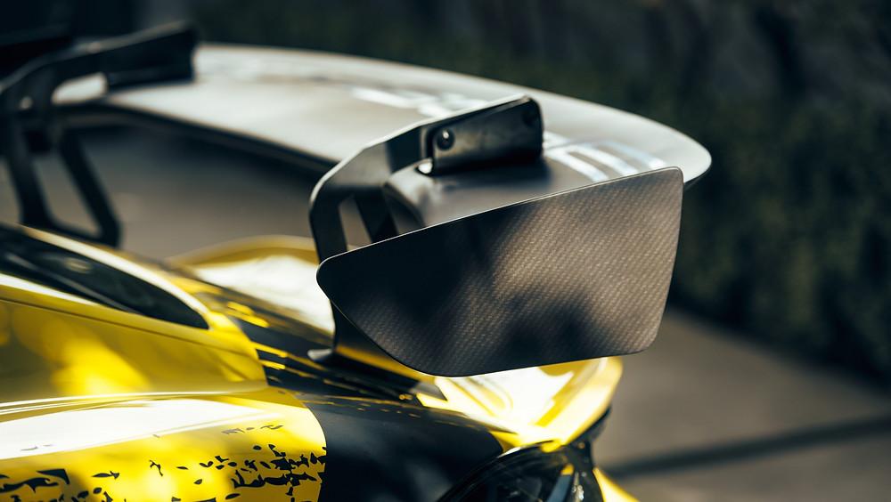 Heckflügel aus nachwachsenden Rohstoffen. Quelle: Porsche AG