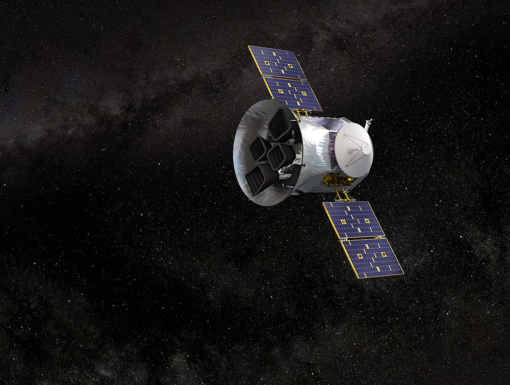 Modell des TESS-Raumfahrzeugs. Quelle: NASA's Goddard Space Flight Center