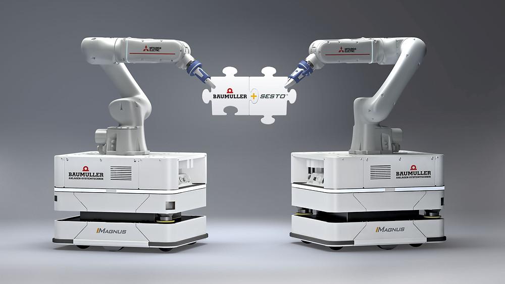 Roboter in Kooperation, könnte ein Thema auf der diesjährigen SPS sein.