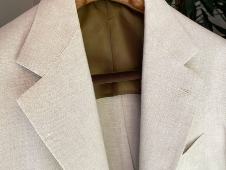 Irish linen suit.