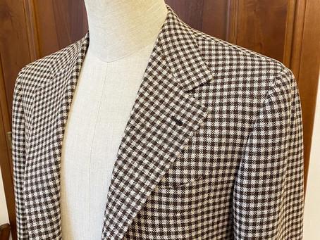 Wool silk linen.