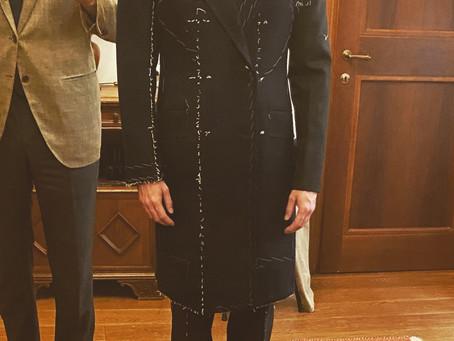 Final fitting Doppio uso coat.