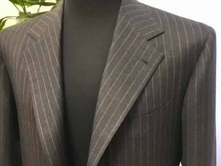 Dark Gray Rope Stripe Suit