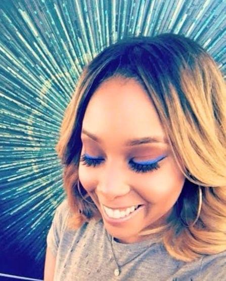 Blue Swank Makeup Look