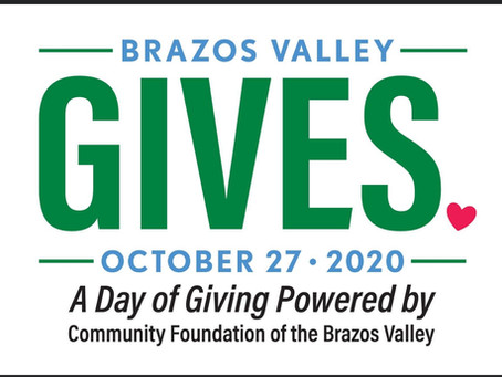 2020 Brazos Valley Gives. Please help our schools and students