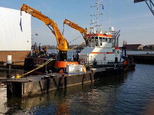 HASYTEC joins launching ceremony of Damen Multicat for company Herman Senior b.v. protected with HAS