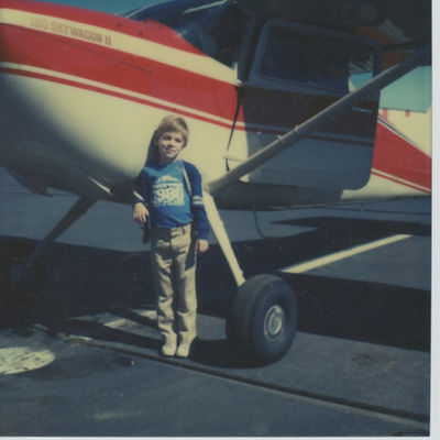 Matthew as Child with Plane