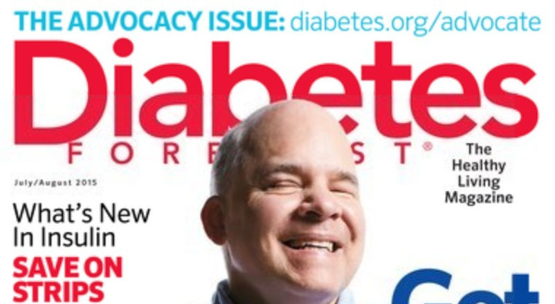 Dr. Weed on the cover of Diabetes Forecast magazine.