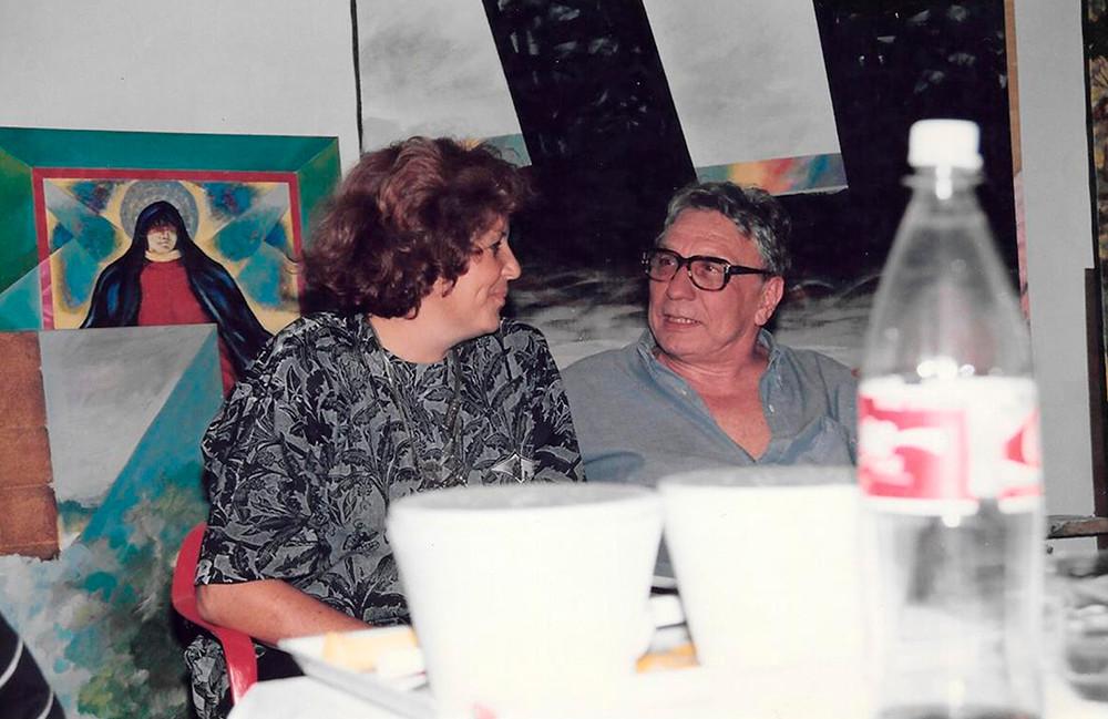 Cristina Dartiguelongue, Cachete Gonzalez en el taller de Busse.