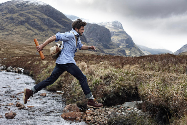 ison mens fashion, outdoors fashion, mountains, scotland, Photographer Christina Bull
