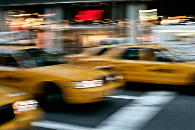 Landscape photography, new york, yellow cabs, Photographer Christina Bull