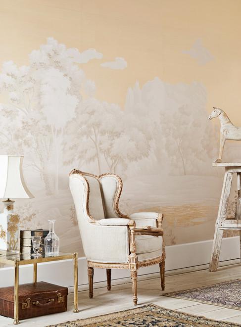 Fromental wallpaper - interiors photographer Christina Bull