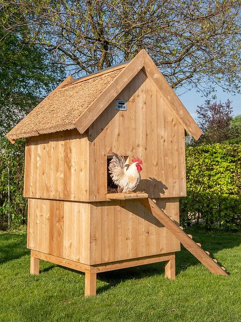 kippenhok groot rieten dak