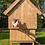 kippenhok groot houten dak
