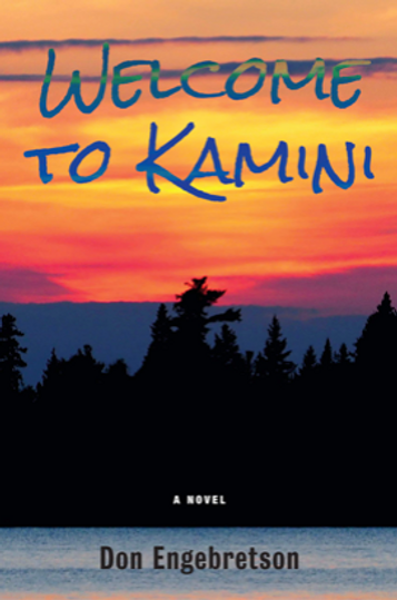 Novel cover: Canadian wilderness and water at sunset.