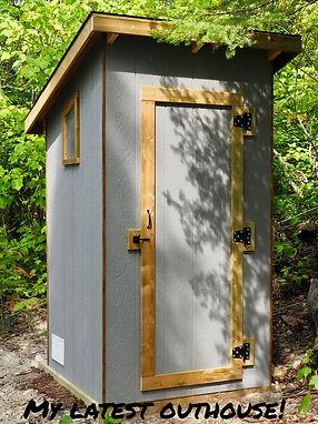 Custom built outhouse
