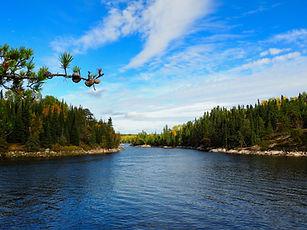 Ontario wilderness river channel