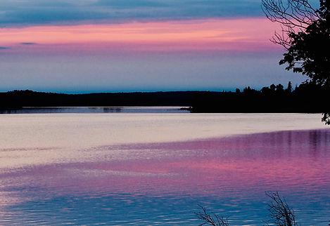 Winnipeg River at twilight