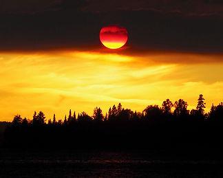 Magnificent wilderness sunset