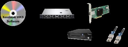 XenData6ワークステーションコンプリートパッケージSSDモデル