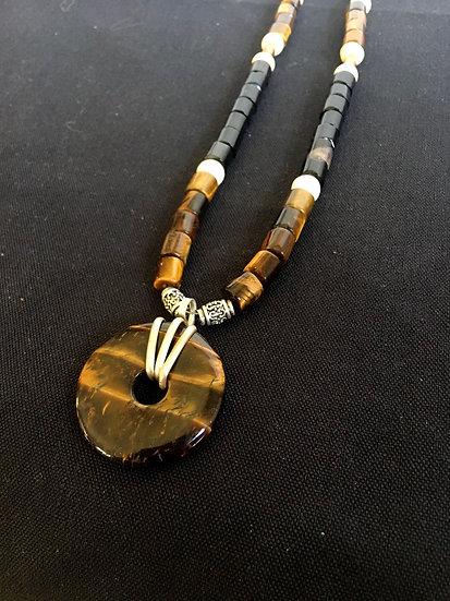 Handmade Tigers Eye Necklace