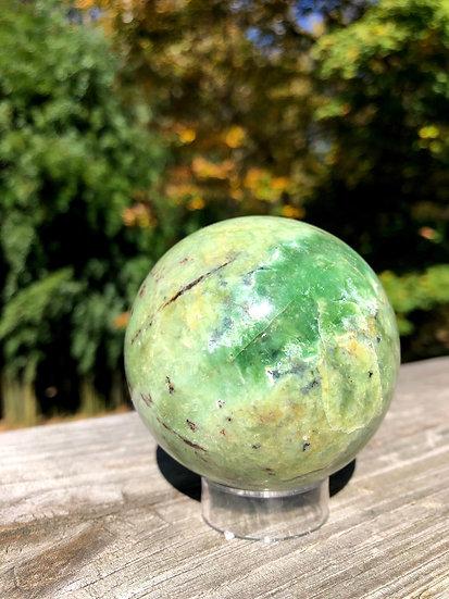 Chrysoprase Sphere