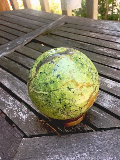 Green Opal Sphere