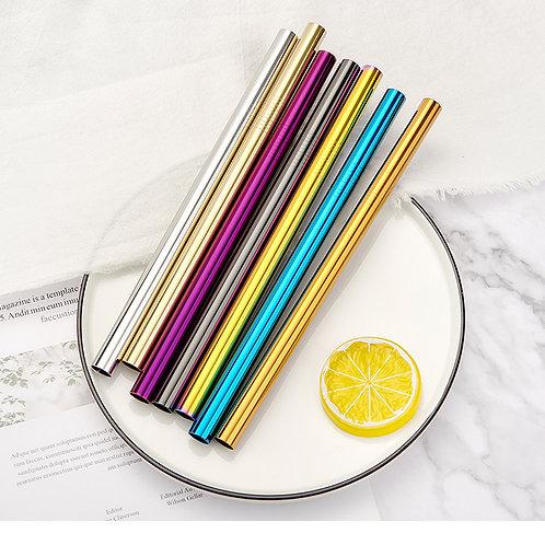 Reusable Boba Metal Straws