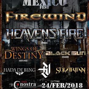 Firewind por primera vez en Mexico!