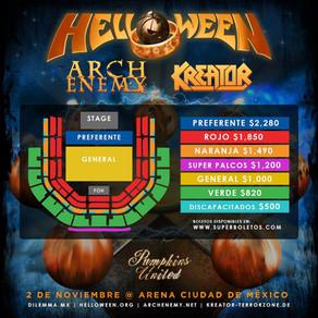 Helloween + Kreator + Archenemy llega a México el Día de Muertos 🎃