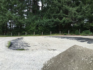 Road fabric was laid out first.