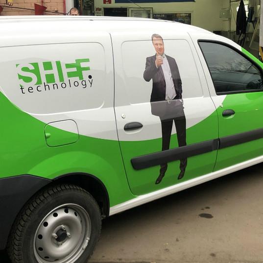 Carner брендирование легкового авто фото