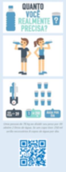 Exemplo do volume de água (diário) para uma pessoa com 78 kg.