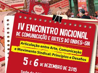 Encontro Nacional de Comunicação e Artes do Andes acontece nos dias 05 e 06 de dezembro