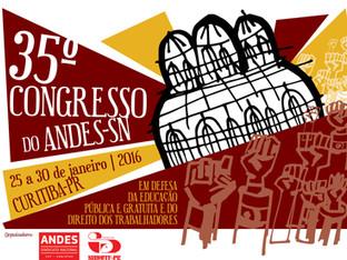 35º Congresso do ANDES-SN tem início na próxima segunda (25) em Curitiba