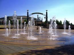 walkway fountain promenade