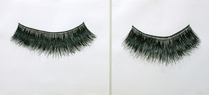 """False Lashes, charcoal, ink, graphite on paper, 2006, 22"""" x 48"""""""
