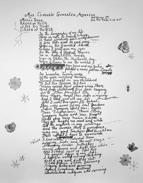 Ashley Thomas Consuelo handwriting drawi