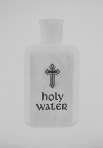 """Holy Water, graphite on paper, 2018, 24"""" x 34"""""""