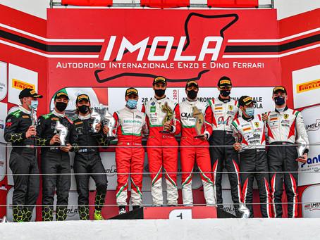 Tujulan autokunta taisteli toiseksi Italian Super GT-sarjan osakilpai-lussa Imolassa