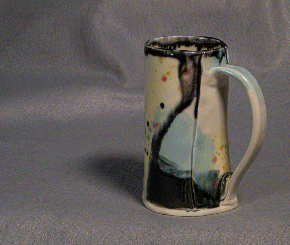 Hand built mug fired to cone 5