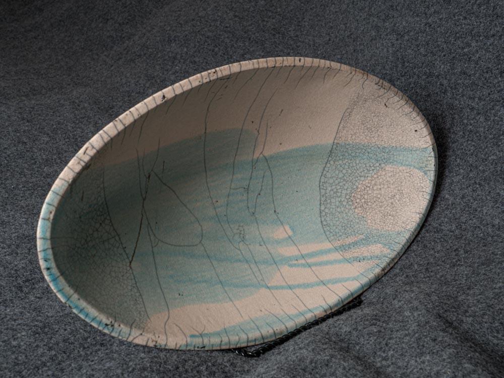 Raku-fired from clay mold