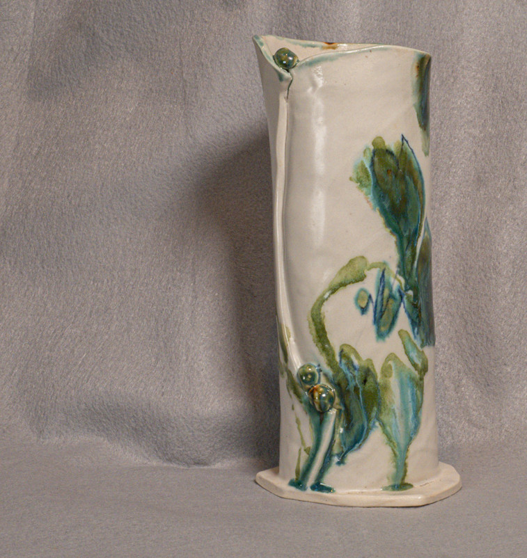 Hand built vase, fired to cone 5