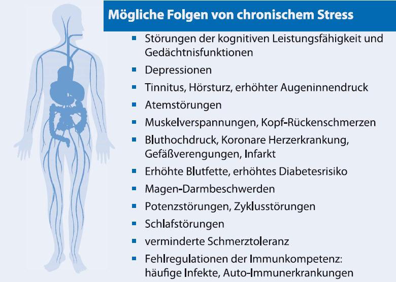 Abb. A7: Mögliche Folgen von chronischen Stress(Kaluza, Stressbewältigung, 2011)