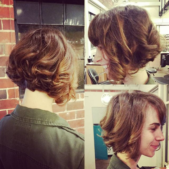 Graduated cut with curls