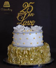 25 years in love... Anniversary cake..jp