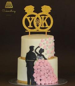 Engagement cake #whitechocolate #cakecst