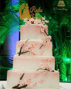 Cherry Blossom wedding cake... Took a lo