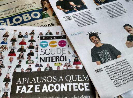 Alberto Pereira é indicado ao Prêmio Sou de Niterói do jornal O GLOBO na categoria Cultura